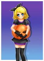 Rin Kagamine : Halloween Pumpkin by LadyGalatee
