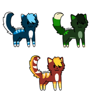 Elemental Cat Adopts by solstice5