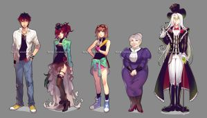 RftD character designs by einlee