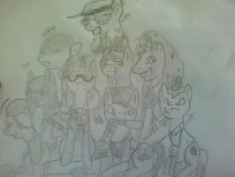 TF2 MLP:FIM- Group picture. by Sniperisawesome