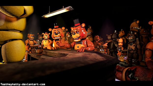 [FnaF-Sfm Poster] Freddy's of the multi-verse 4K by Teetheyhatty