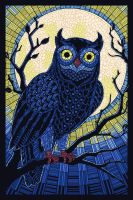 Paper Mosaic Owl by Chronoperates