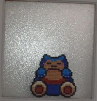 Hama Bead - Snorlax by acidezabs
