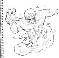 Armored Titan - Traditional by Markymock