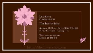 Business Card-The Flower Shop by Naomi89