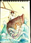 The Mermaid and the Fisherman by MicroscopicGiants