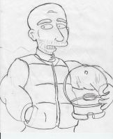 2001.  Moby as a Simpsons character. by simpspin