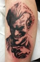 Joker Tattoo, 1st Pass by phantomphreaq
