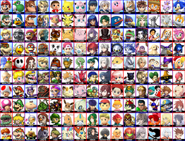 Super Smash Bros. 4 - Dream Roster by follyoftheforbidden