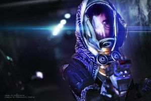 Tali'Zorah from Mass Effect Cosplay by WJSCosplay