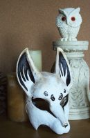 White and Gold Fox Mask by nondecaf