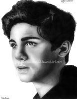 Logan Lerman Drawing 3 by ashleymenard122