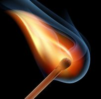 Burning match stick by lazunov