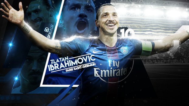 Ibrahimovic 2016 Wallpaper by Badr-DS