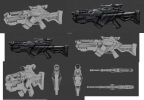 Gun Concept 'Aedebar Rifle' by Choczy123