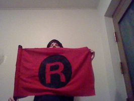 Other side of Team Rocket flag by oohcoo