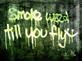 Smoke weed till you fly by Averin-Renee