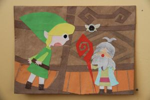 LoZ:PH paper cut-outs - No. 1 by randomzeldafan
