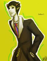 Sollux in a tux by TheMADhatterest