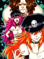 Final Fight-Roxy, Poison and Andore by Lilly-Lamb