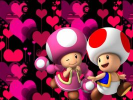 Toad and Toadette by GabyMarioFangirl