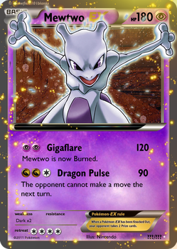 Mewtwo EX : Extreme Powers by Victini-EX