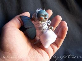 Blue fairy baby ooak sculpture by sarcoptes666