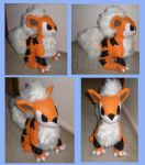 Growlithe plushie by CassiniCloset