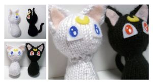 Knit Artemis and Luna Plushies by tastee-tea