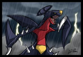 Garchomp, the Pirate Shark by pokemon-master