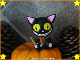 Halloween Black Cat Figurine by MeckelFoxStudio