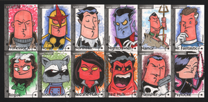 2013 Marvel Fleer Retro sketch cards 025-036 by thecheckeredman