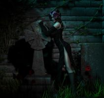 Valeria in the Graveyard by twosheds1