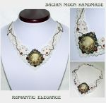 Romantic Elegance necklace by NessaSilverwolf