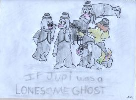 If Jupi was a Lonesome Ghost by PuppyDawg1022