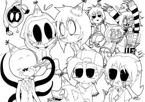 Chibi Creepypasta Party! :3 by shannonxnaruto