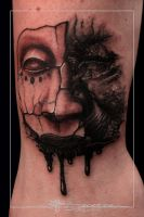 Tattoo Monster and Mask by jbecerra