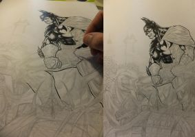 Batman inks in process 2012.2 by barfast