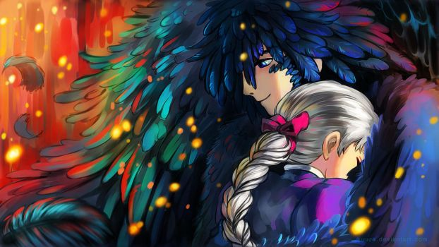 Howl and Sophie Wallpaper by Yuuza