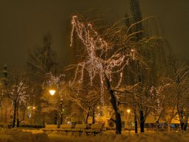 Park at Night3 by jeremi12