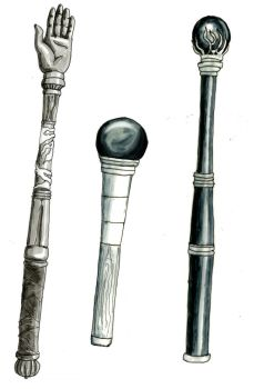 wands and sceptres by Kluwe