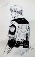 Leon sketch Expocomic Madrid by elena-casagrande