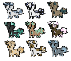 Puppy Adoptables Six |Open| by LeveButt