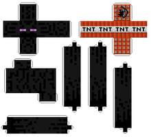 Endermen Paper-craft RE-COMPRESS by castle-crasher