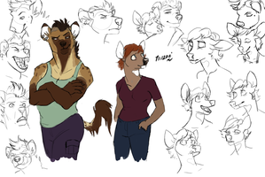 Character Sketches by OfficerBadger