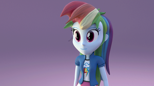 Equestria Girls 3D- Rainbow Dash Test 2(GIF) by fimoman