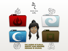 The Legend of Korra Desktop Icons by Solonir
