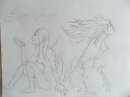 Siren and Harpy by vanazza