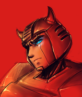 Cliffjumper headshot by shibara-draws-mecha