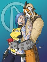 Commission: Maya and Krieg by Blunt-Katana